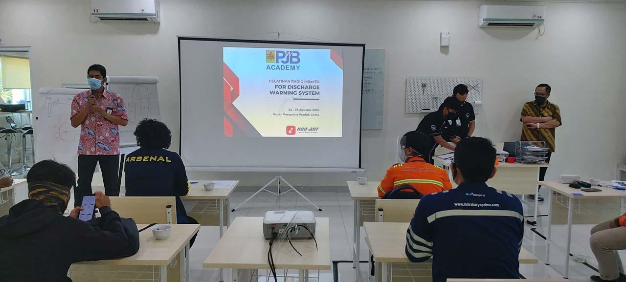 PT. PJB Cirata Mikrotik for Discharge Warning System Training